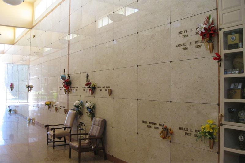 Melrose Abbey M.P., Anaheim - Abbey Mausoleum, Orchid Corridor ...