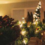 holiday Christmas mantlepiece