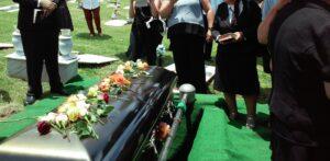 COVID funeral service